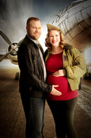 Meghan & Chris | Studio Pinup Aviation Maternity Session
